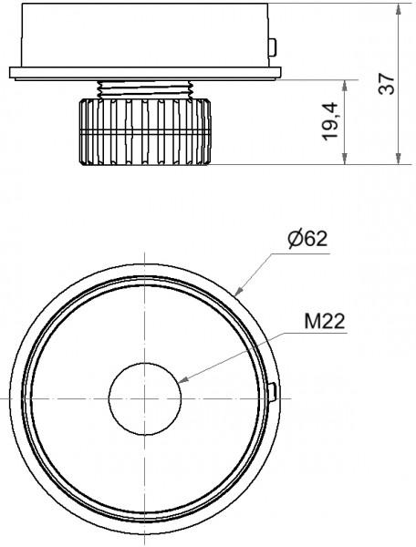 Mini Adapter M22 EM GY