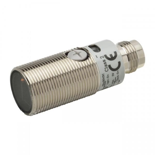 Fotoschalter - PRO Linie, Taster, Reichweite 300mm, M18 Metallgehäuse, Schutzklasse IP69k, NPN, M12