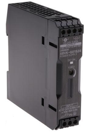 Omron S8VK-G01524, 24VDC, 0,65A, 15W, DIN-Schienen Netzteil