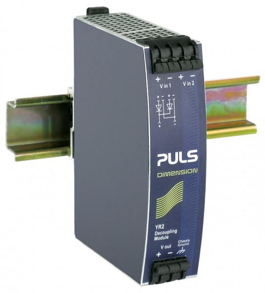YR2.DIODE Puls Hutschienen Dioden Redundanzmodul, 12-48VDC, 20A