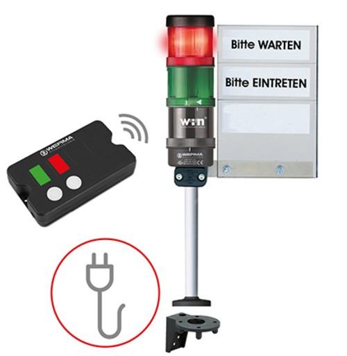 Kundeneinlass-Ampelsystem 230V Funk-System