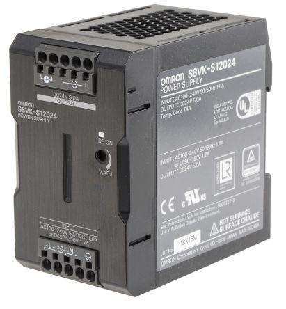 Omron S8VK-S12024, DIN-Schienen, Netzteil 120W, 24VDC, 5A