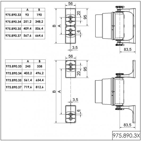 Montagebügel 4-stufig mit Zubehör GY