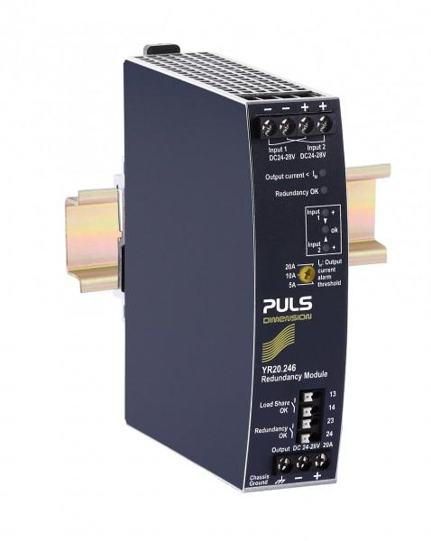 YR20.246 Puls Hutschienen MOSFET Redundanzmodul, 24-28VDC, 20A