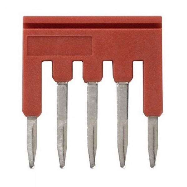 Steckbrücke für Reihenklemmen, 1mm², Push-In Plus Modelle, 5-polig, rot