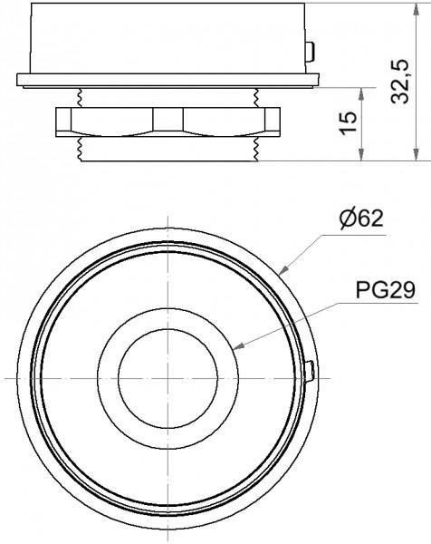 Mini Adapter PG29 EM GY