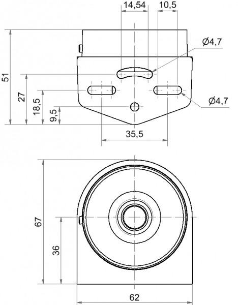 Mini Winkel Kabelverschraubung GY