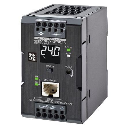 Omron S8VK-X12024A-EIP, 24VDC, 5A, 120W, DIN-Schienen Netzteil