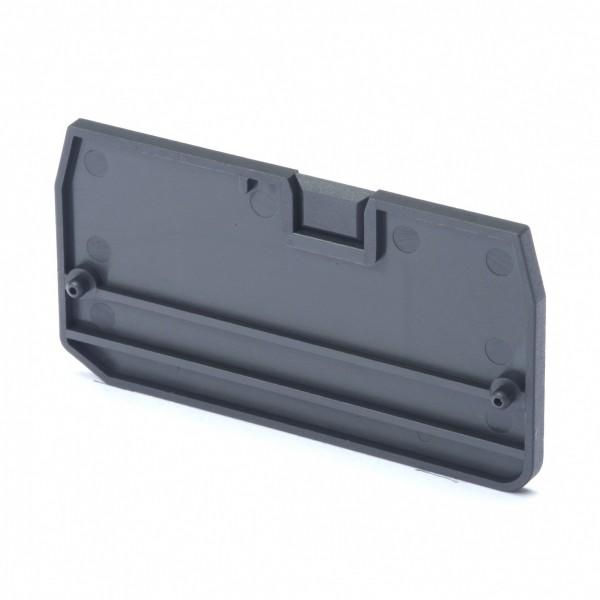 Endplatte für Mehrleiter-Reihenklemmen mit 4 Anschlüssen, 4mm², Push-in Plus Modelle