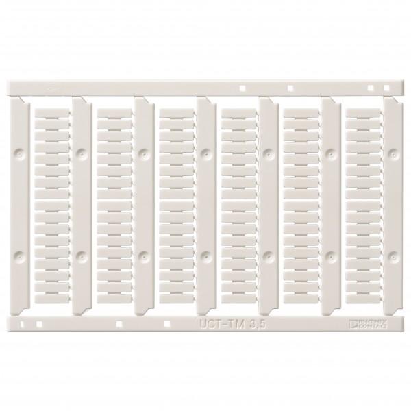 Beschriftungsfeld für Reihenklemmen, unbeschriftet, 1mm², Push-in Plus, Kunststoff, Frontseite, 102