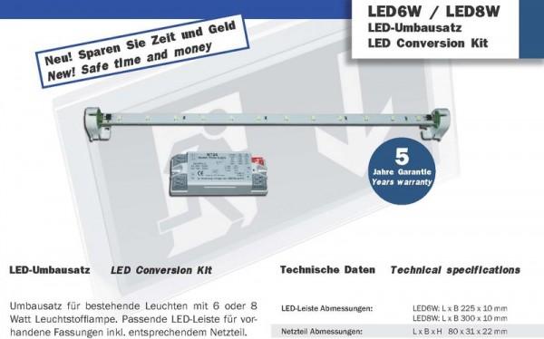 Universal LED-Umbausatz für Notausgangsleuchten 6W/8W, 12VDC, 9LEDs