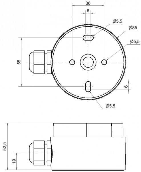 Midi Adapter Kabelverschr. BM GY
