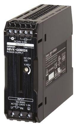 Omron S8VK-G06024, 24VDC, 2,5A, 60W, DIN-Schienen Netzteil