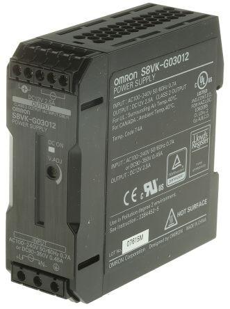Omron S8VK-G03012, 12VDC, 2,5A, 30W, DIN-Schienen Netzteil