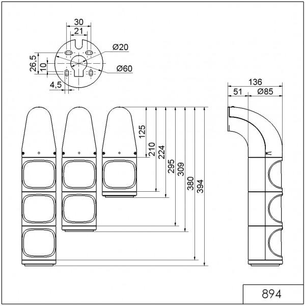 LED-DauerleuchteCL WM 24VDC GN/RD