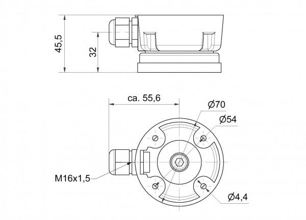 Anschlussdose mit Magnetfuß BK