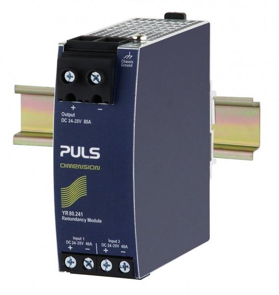 YR80.241 Puls Hutschienen MOSFET Redundanzmodul, 24-28VDC, 80A