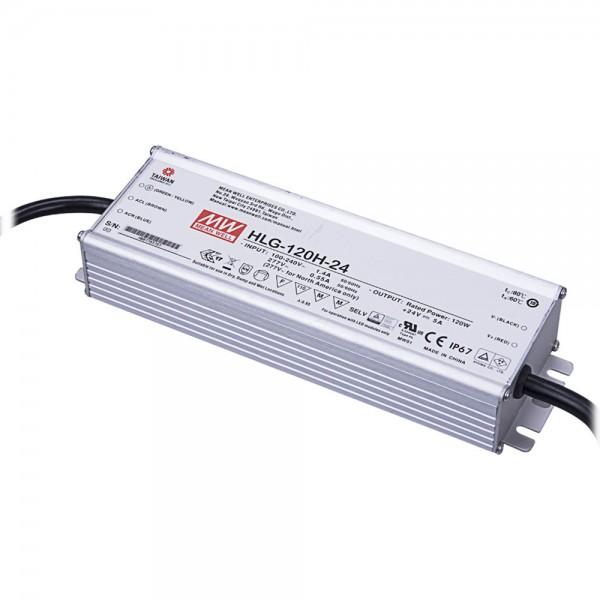 HLG-120H-24, LED-Netzteil, 120W, 24V, 5A, IP67