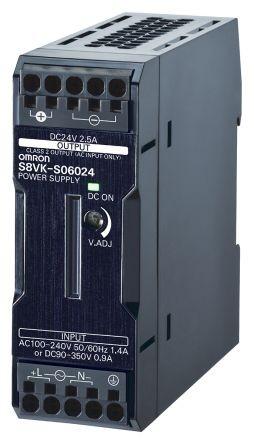 Omron S8VK-S06024, DIN-Schienen, Netzteil 60W, 24VDC, 2.5A