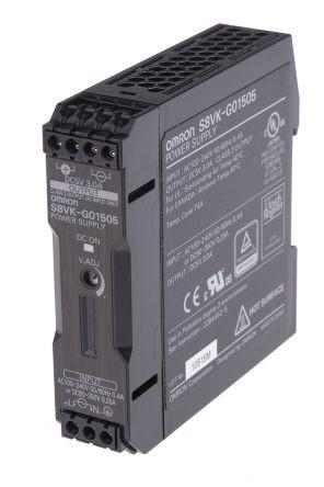Omron S8VK-G01505, 5VDC, 3,0A, 15W, DIN-Schienen Netzteil