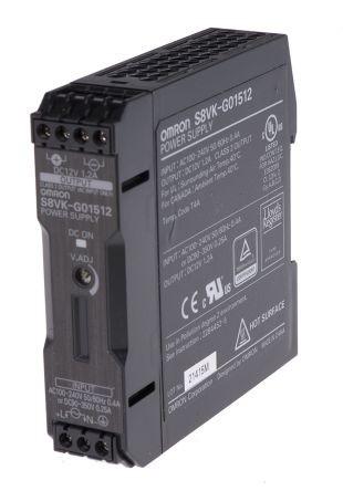 Omron S8VK-G01512, 12VDC, 1,2A, 15W, DIN-Schienen Netzteil